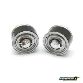 Boom Racing 1.55 Yota LC70 Stock Steelie Beadlock Wheels Rear (2) Gun Metal (2)