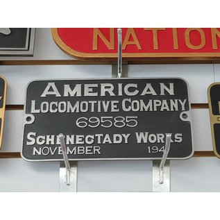 Railway Recollections American Locomotive Builders Plate Black and Silver