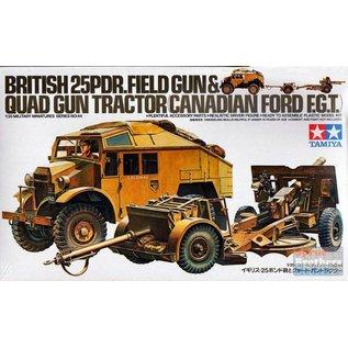 Tamiya 1/35 British 25 Pounder Gun  & Quad Tractor