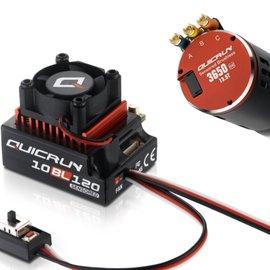 Hobbywing Quicrun Brushless Combo QR10SD ESC +QR3650SD-10.5T (4500kv) G2 Motor
