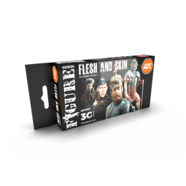AK Interactive 3G Flesh And Skin Colors