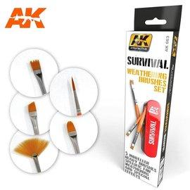 AK Interactive Survival Weathering Brush Set