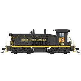 Walthers Mainline EMD SW7 - ESU Sound & DCC -- Detroit & Toledo Shore Line #116 (black, yellow, red) HO