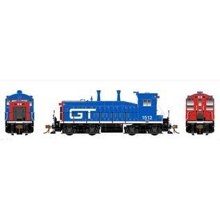 Rapido Trains SW1200 GTW W/DCC/SND HO #1512 Red/Blue