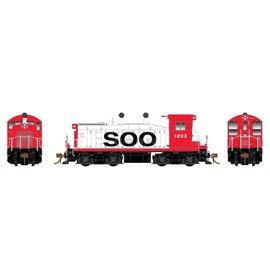 Rapido Trains SW1200 SOO W/DCC/SND HO #1203 Red/White