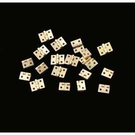 Paris Junction Hobbies 20pc Brass Hinges (approx. 8mm x 10mm)