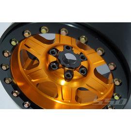 "SSD RC 2.2"" Challenger Beadlock Wheels (Gold) (2)"