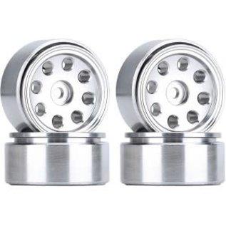 Hobby Details Axial SCX24 CNC Aluminum Flower Eight-holes Beadlock Wheels 4pcs/set White
