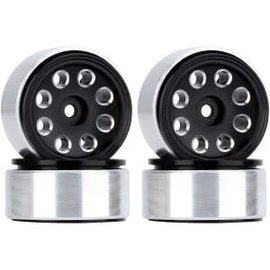 Hobby Details Axial SCX24 CNC Aluminum Flower Eight-holes Beadlock Wheels 4pcs/set Black