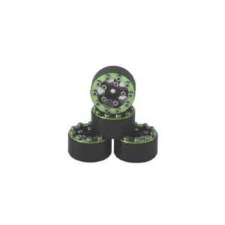 Hobby Details Axial SCX24 CNC Aluminum Screws- Style Beadlock Wheels 4pcs/set Green