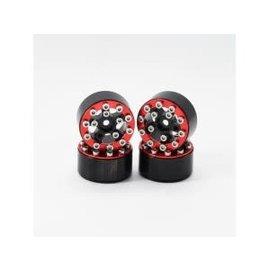 Hobby Details Axial SCX24 CNC Aluminum Screws- Style Beadlock Wheels 4pcs/set Red