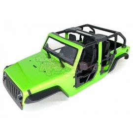 Team Raffee Co. 1/10 Rubicon Hard Body w/ Full Tube Doors & Open-Top for 1/10 Crawler 313mm Green