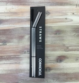 Corkcicle Corkcicle Stainless Steel Straws & Cleaning Brush