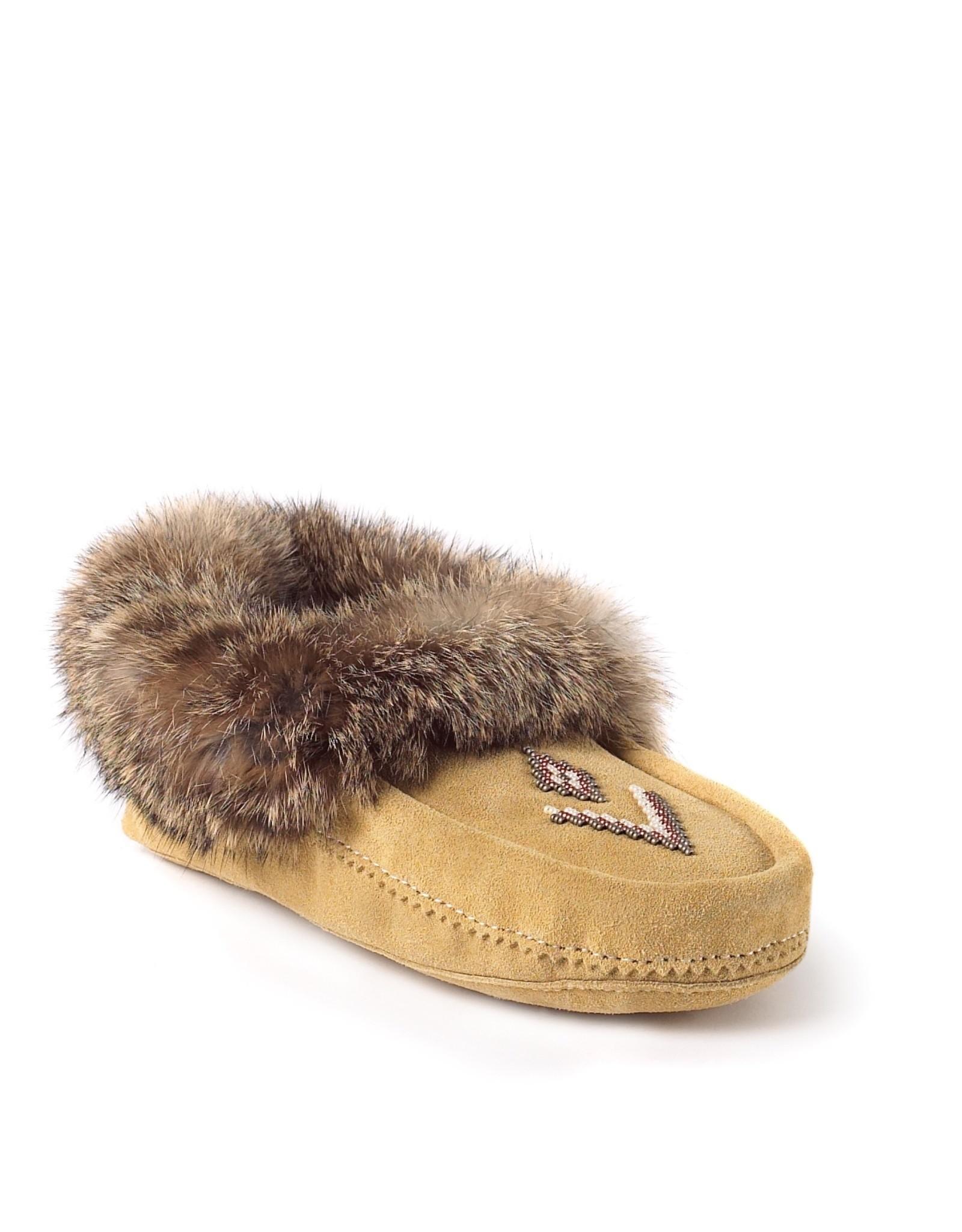 Manitobah Mukluks Manitobah Mukluks Tipi Fur Trim Suede Moccasin Ladies'