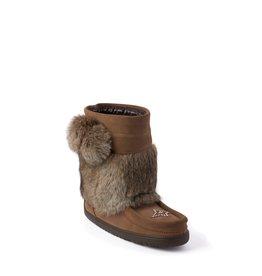 Manitobah Mukluks Manitobah Mukluks WP Short Snowy Owl Mukluk Suede Ladies'