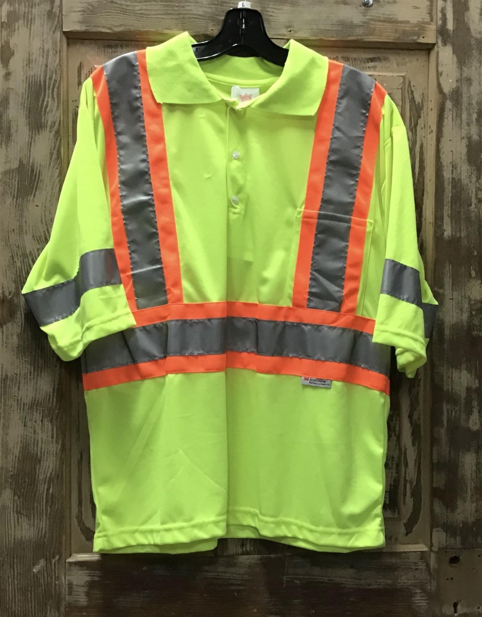 Big K Clothing Big K #BK3507 Hi Vis Safety Polo T-shirt Short Sleeve Mens