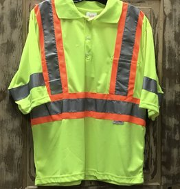 Big K Clothing Big K #BK3507 Hi Vis Safety Polo T-shirt Short Sleeve Mens