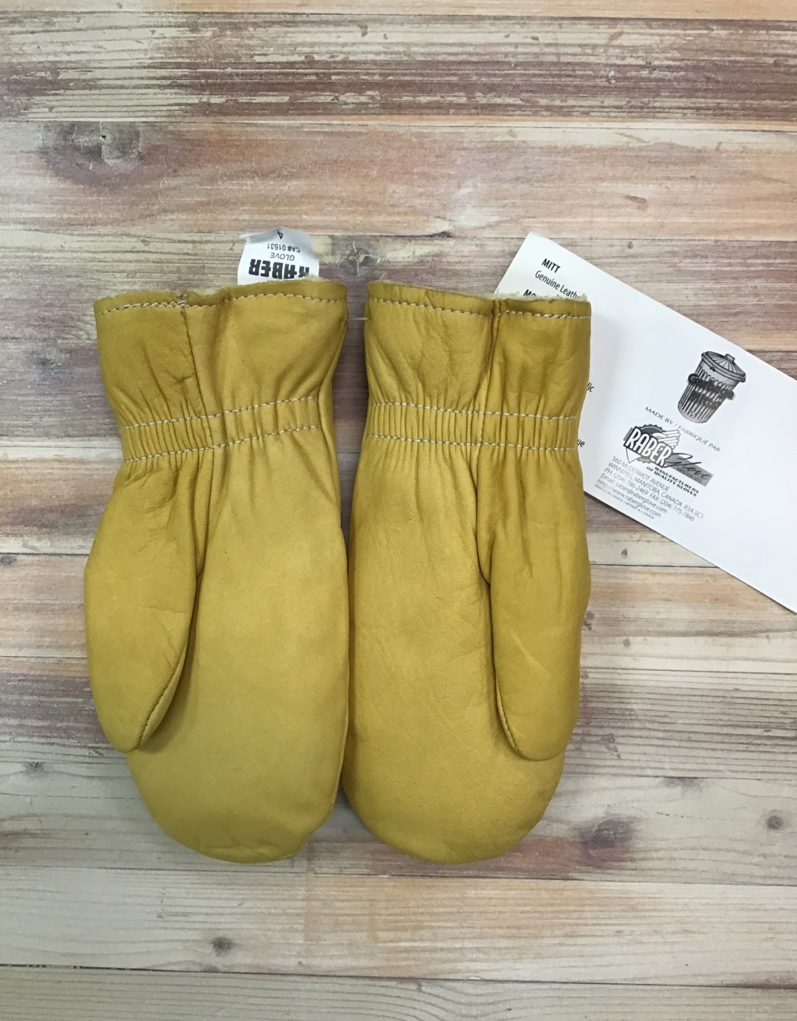 Raber Raber #395 Leather Lined Garbage Mitts Kids'