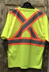 Work King Work King S392 Micro Mesh Safety S/S T-Shirt with Pocket Men's