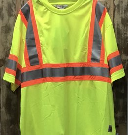 Work King Work King S394 Micro Mesh Safety S/S T-Shirt Men's