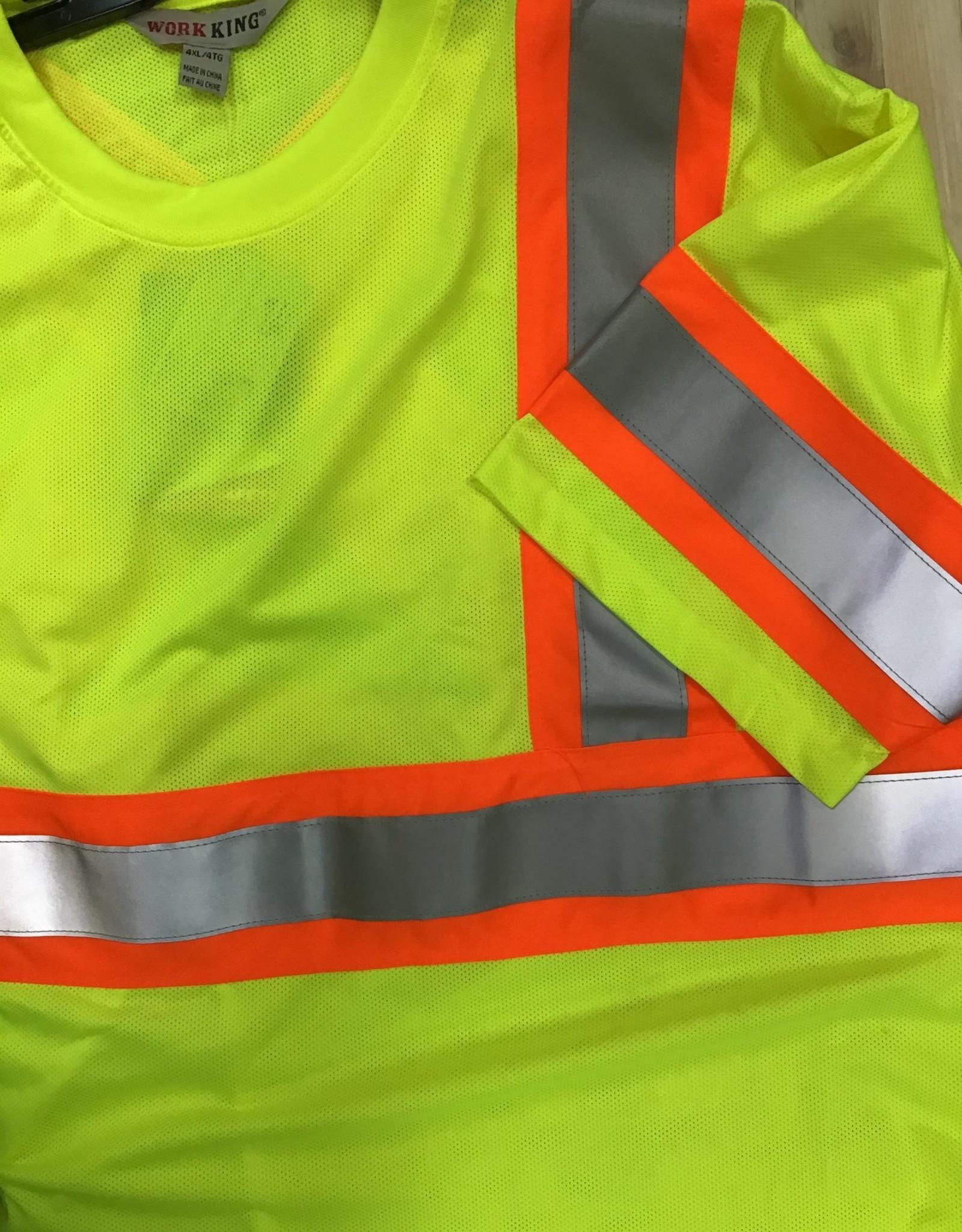 Work King Work King S394 Micro Mesh Safety S/S T-Shirt Men's