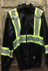 Work King Work King S494 Zip Front Fleece Safety Hoodie Men's