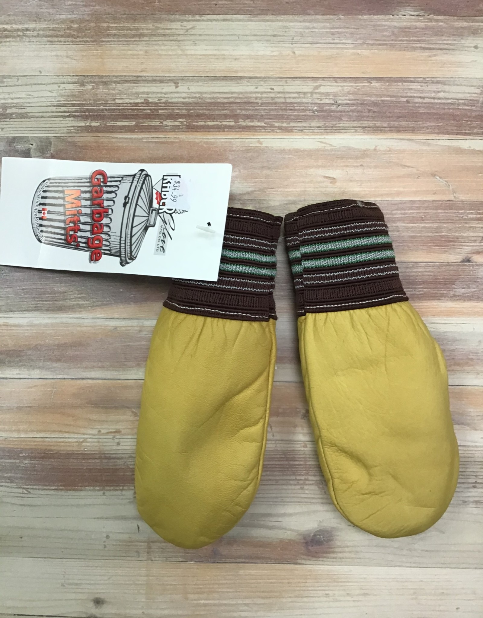 Raber Raber Cuffed Leather Garbage Mitts Kids'