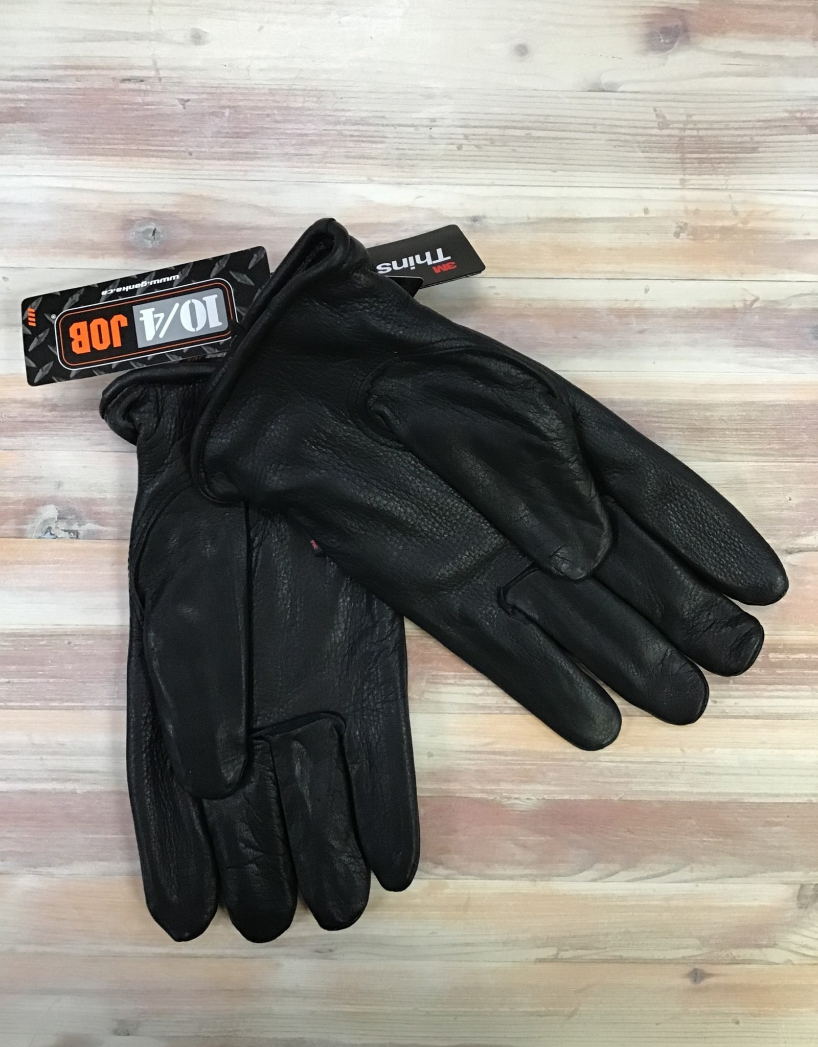 Ganka Ganka 27-1006-BUC-N/B Leather Gloves Men's