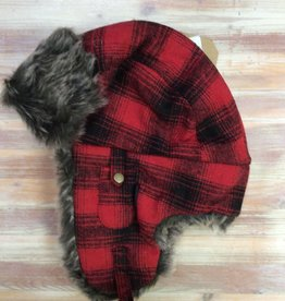Tough Duck Tough Duck 115616 Plaid Aviator Hat Unisex