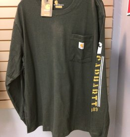 Carhartt Carhartt 104430 Original Fit Heavyweight L/s Pocket Logo Graphic T-Shirt Men's