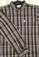 Carhartt Carhartt 104444 Relaxed Fit Cotton Long Sleeve Plaid Shirt Men's