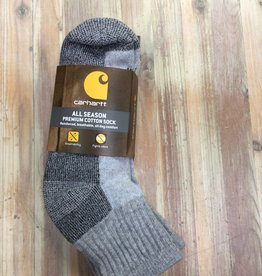 Carhartt Carhartt Quarter All Season Premium Cotton 3 Pair Socks Men's