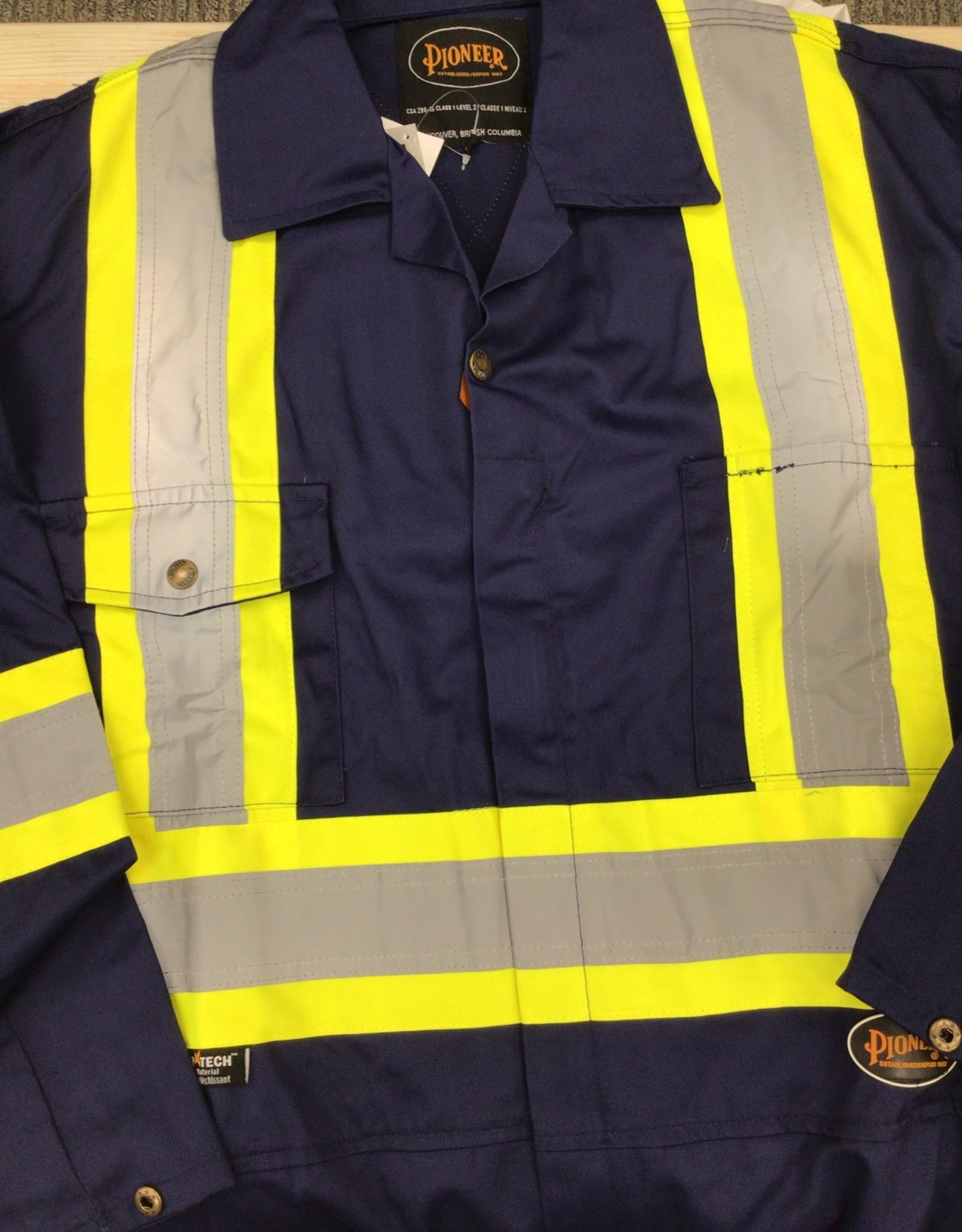 Pioneer Pioneer Safety Poly/Cotton Coveralls 5516T Men's