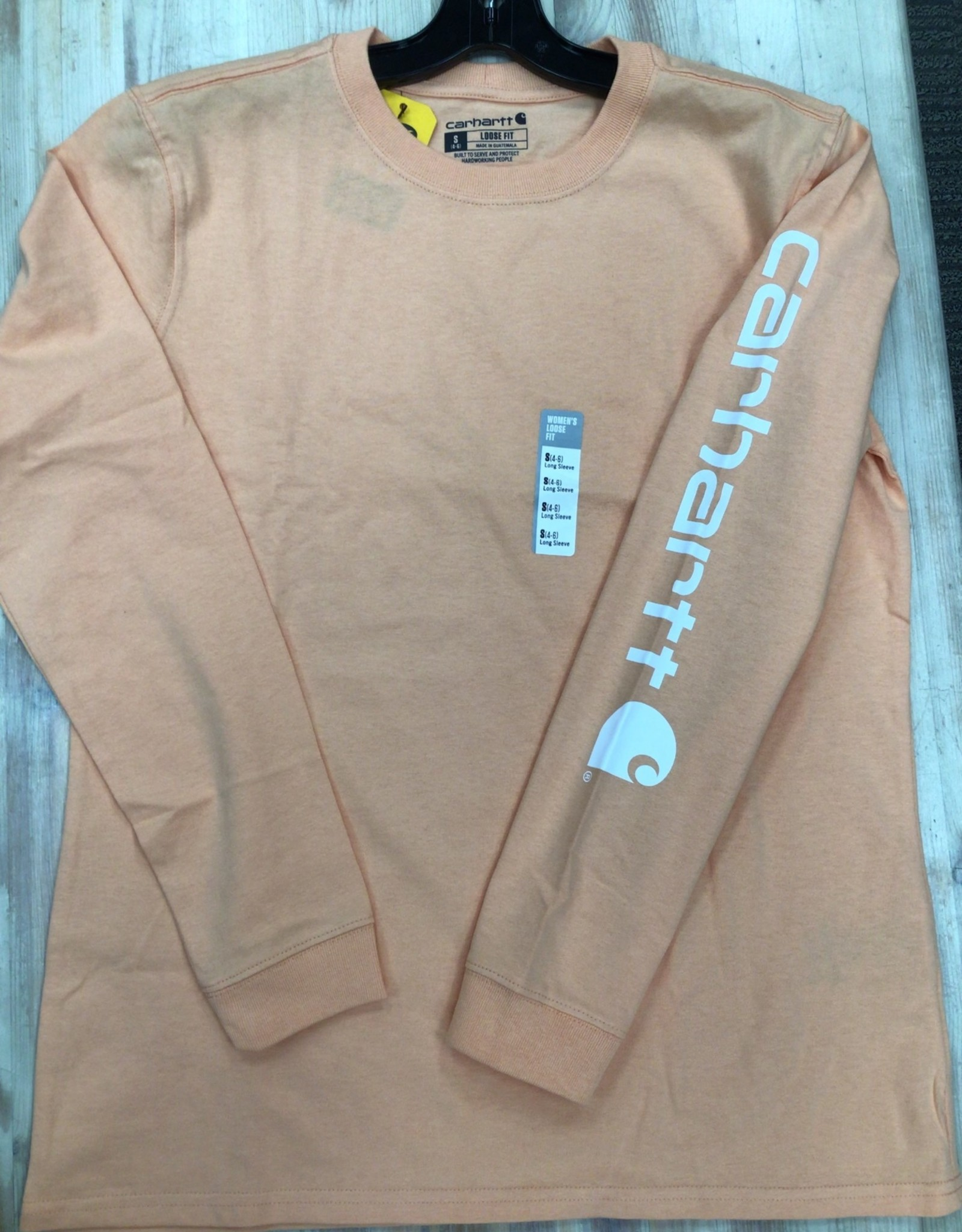 Carhartt Carhartt 103401 Loose Fit Heavyweight Long Sleeve Logo Sleeve Graphic T-Shirt Ladies'