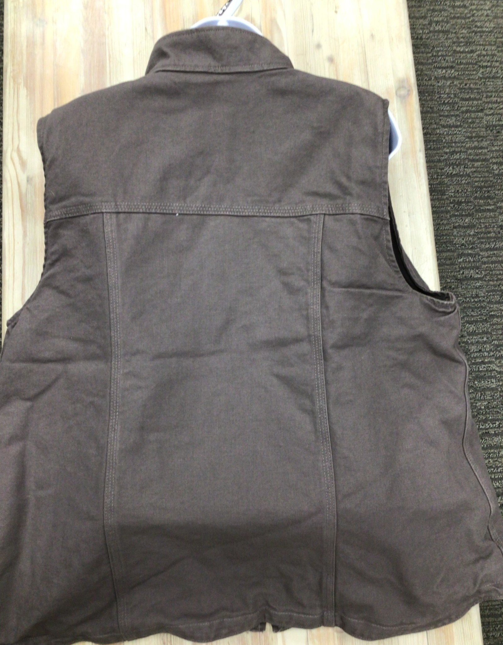 Carhartt Carhartt 104224 Relaxed Fit Washed Duck Lined Mock Neck Vest Ladies'