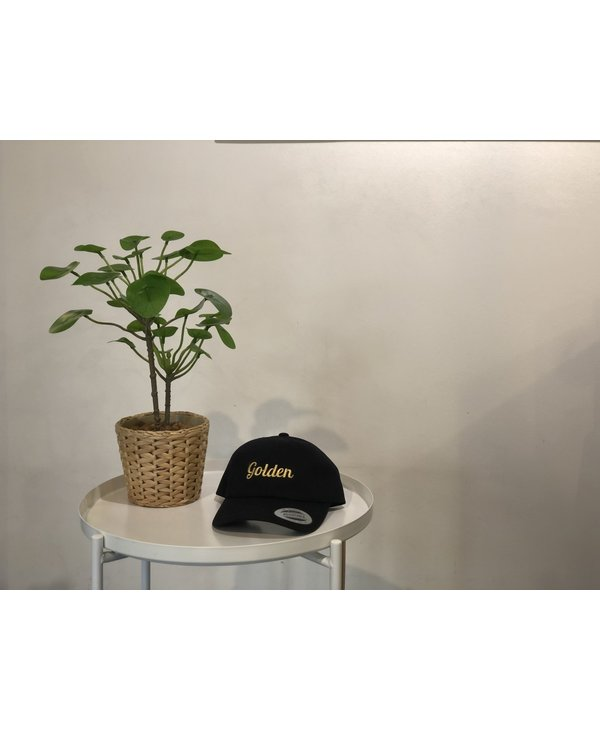 Golden Golf Hat