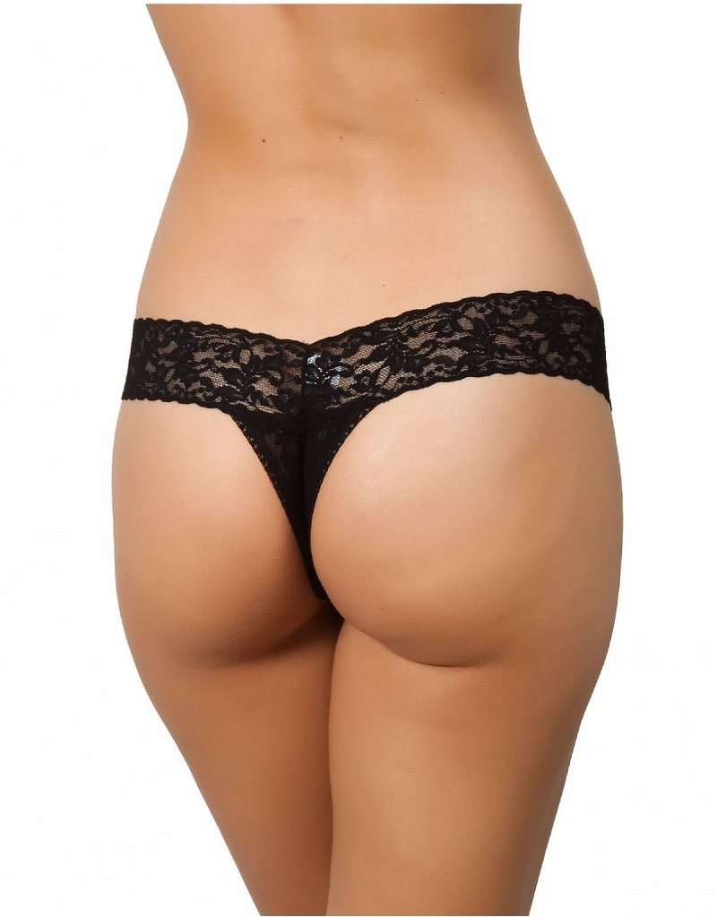 Hanky Panky Original Rise Thong 4811 Black One Size