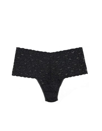 Hanky Panky Retro Lace Thong Plus 9K1926X Black One Size