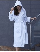 Kayanna Spa Terry Velour Robe with Hood M128-400 One Size White