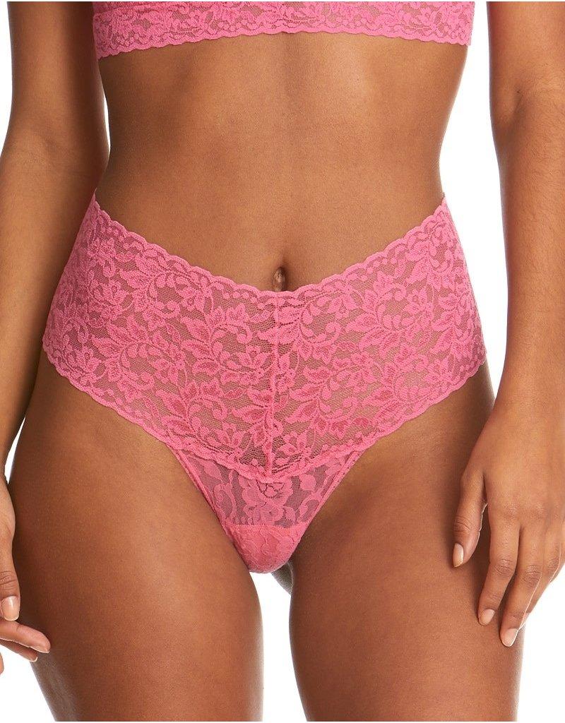 Hanky Panky Retro Lace Thong 9K1926 Sugar Rush Pink One Size