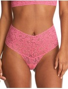 Hanky Panky Retro Lace Thong Plus 9K1926X Sugar Rush Pink One Size