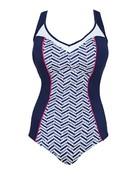 Elomi Chevron Swimsuit 7450