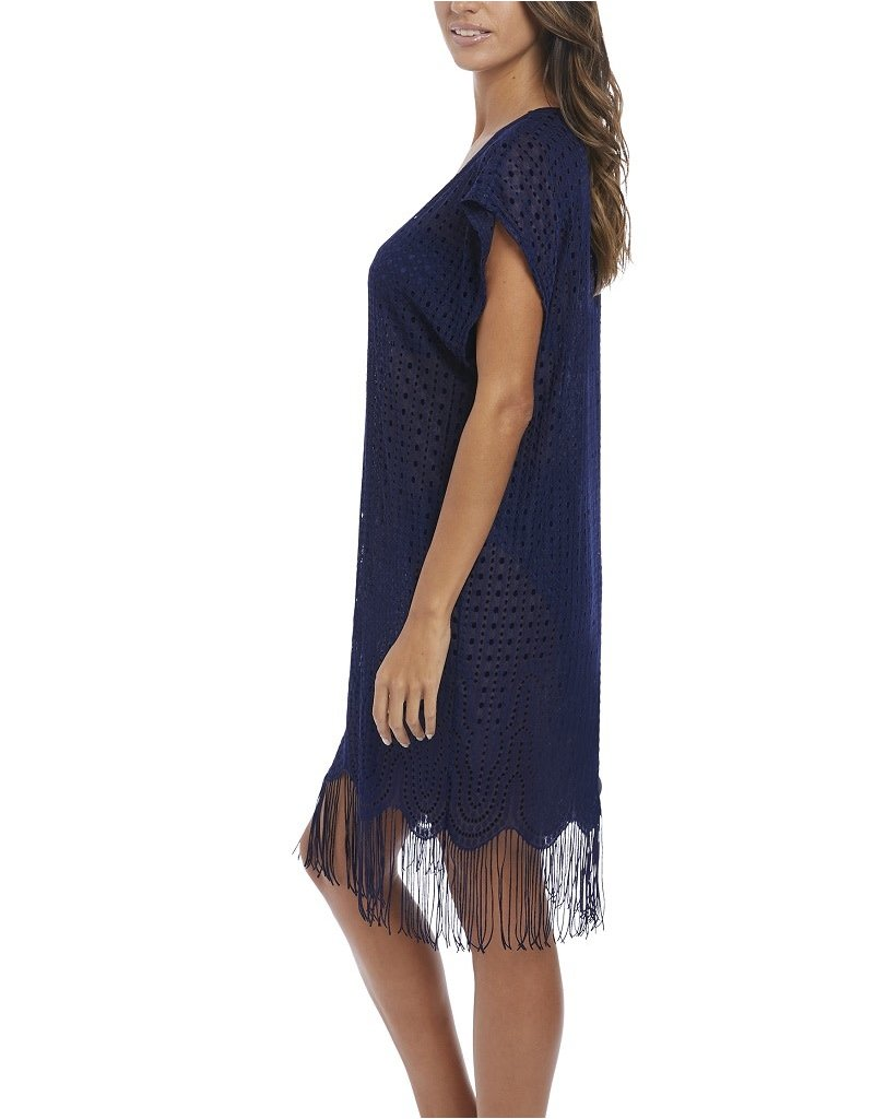 Fantasie Antheia Crochet Beach Cover Up 6552 Small Twilight