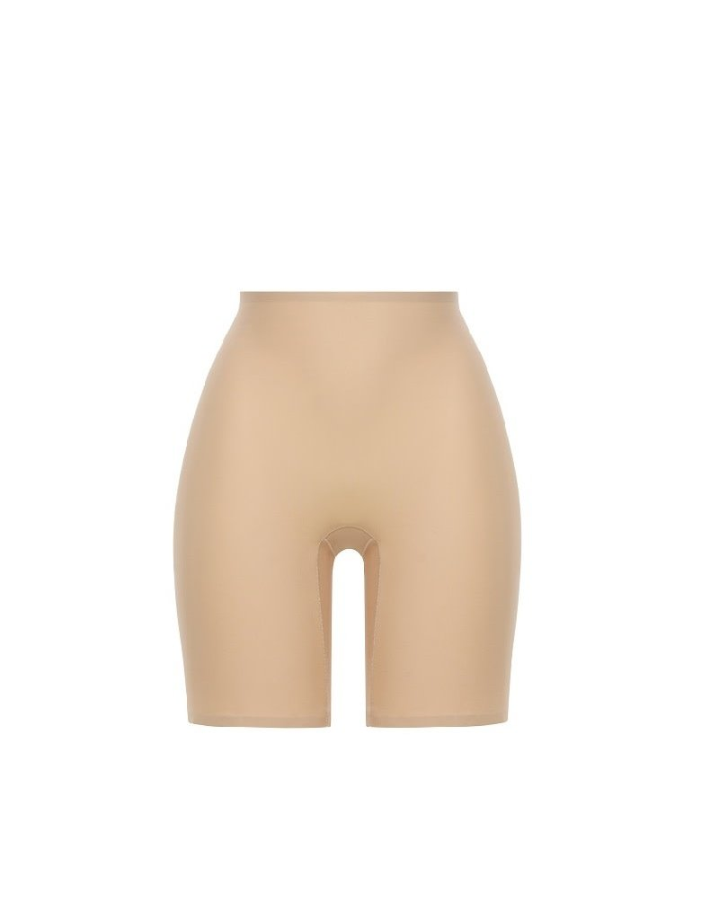 Chantelle SoftStretch Mid Thigh Shorts 2645 Latte One Size