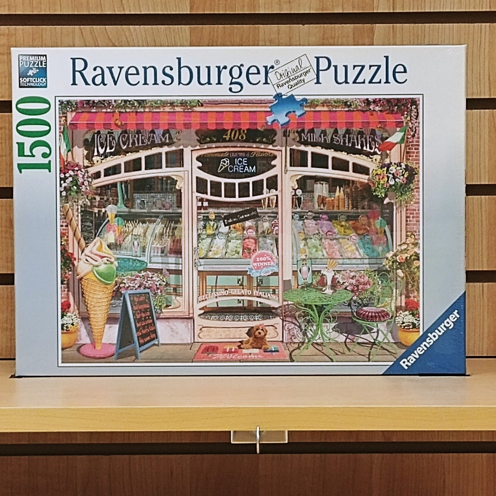 1500pc Jigsaw Puzzle Ravensburger Ice Cream Shop