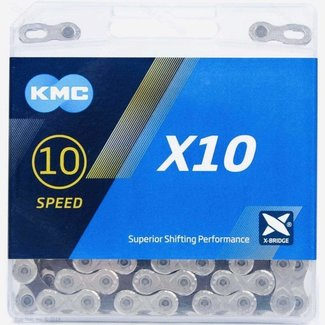 KMC 10 Speed Chain, 116 links, Silver