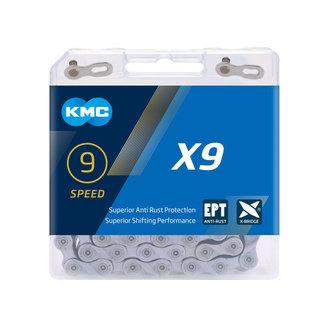KMC 9 Speed Chain - Silver/Dark Silver