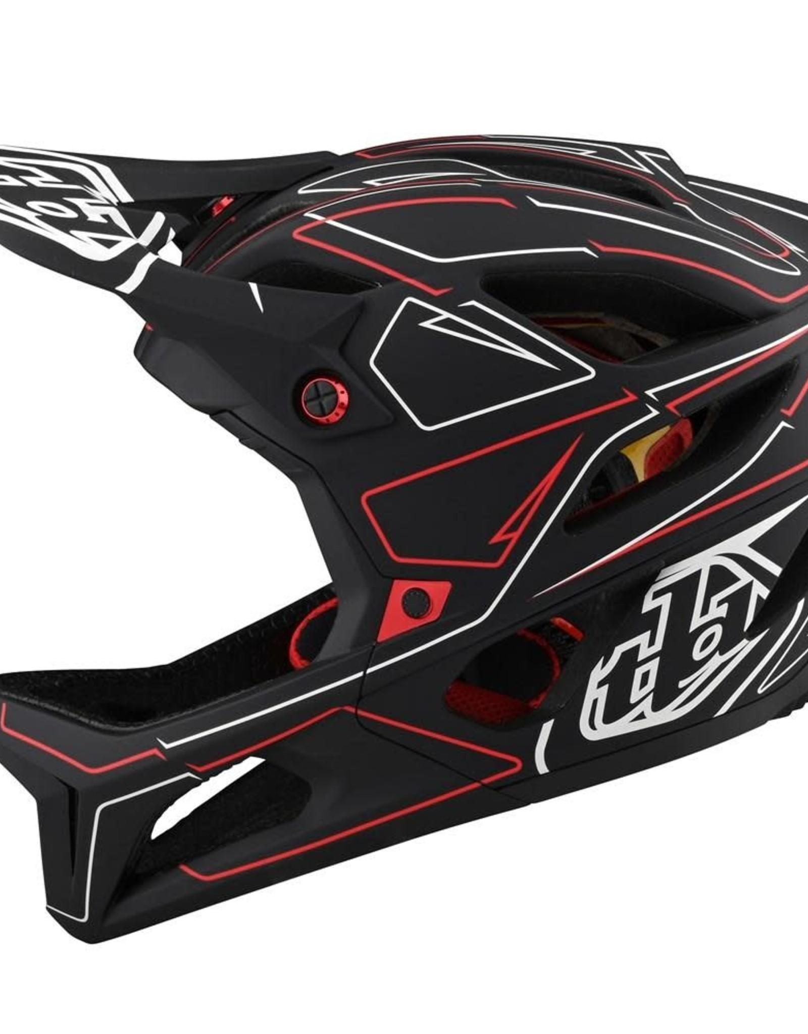 Troy Lee Designs Troy Lee Designs 22 Stage MIPS Helmet Pinstripe Black/Red