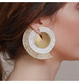 THIS ILK Boucles d'oreilles Savannah - Or & jute