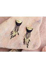 THIS ILK Boucles d'oreilles Canyon - Noir